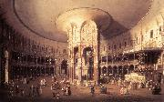 London: Ranelagh, Interior of the Rotunda vf Canaletto