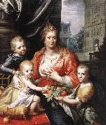 Sophia Hedwig, Countess of Nassau Dietz, with her Three Sons sg MOREELSE, Paulus