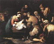 Adoration of the Shepherds zg MURILLO, Bartolome Esteban