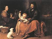 The Holy Family sgh MURILLO, Bartolome Esteban