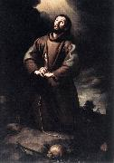 St Francis of Assisi at Prayer sg MURILLO, Bartolome Esteban