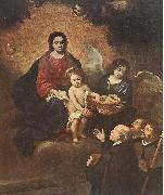 The Infant Jesus Distributing Bread to Pilgrims sg MURILLO, Bartolome Esteban