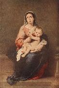 Madonna and Child eryt4 MURILLO, Bartolome Esteban
