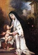 St Rose of Lima sg MURILLO, Bartolome Esteban