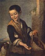 Boy with a Dog sgh MURILLO, Bartolome Esteban