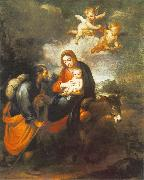 Flight into Egypt sg MURILLO, Bartolome Esteban