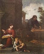 Holy Family with the Infant St John dh MURILLO, Bartolome Esteban