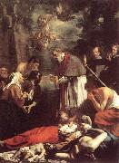 St Macarius of Ghent Giving Aid to the Plague Victims sh OOST, Jacob van, the Younger