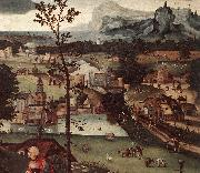 Landscape with the Rest on the Flight (detail) a PATENIER, Joachim