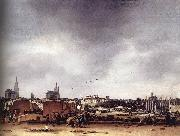View of Delft after the Explosion of 1654 af POEL, Egbert van der