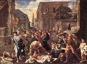 The Plague at Ashdod asg POUSSIN, Nicolas