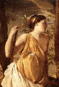 The Inspiration of the Poet (detail) af POUSSIN, Nicolas