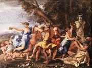 The Nurture of Bacchus ag POUSSIN, Nicolas