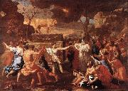 The Adoration of the Golden Calf g POUSSIN, Nicolas