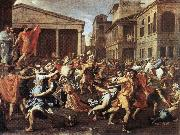 The Rape of the Sabine Women af POUSSIN, Nicolas