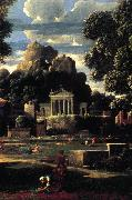 Landscape with the Gathering of the Ashes of Phocion (detail) af POUSSIN, Nicolas