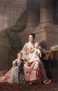 Queen Charlotte with her Two Children dy RAMSAY, Allan