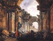 Imaginary View of the Grande Galerie in the Louvre in Ruins AG ROBERT, Hubert