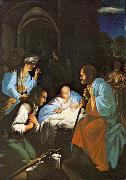 The Birth of Christ  f SARACENI, Carlo