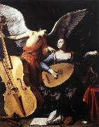 Saint Cecilia and the Angel sd SARACENI, Carlo