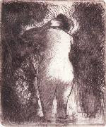 Back view of bather Camille Pissarro