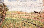 Ploughing at Eragny Camille Pissarro