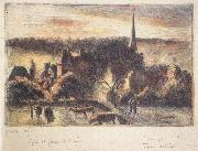 Church and farm at Eragny-sur-Epte Camille Pissarro