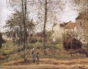 Landscape in the vicinity of Louveciennes Camille Pissarro