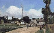 Banks of the Oise at Pontoise Camille Pissarro