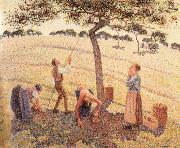 Apple picking at Eragny-sur-Epte Camille Pissarro