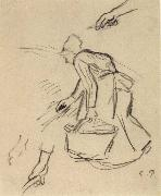 Woman carrying a basket Camille Pissarro