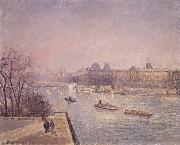 Morning,winter sunshine,frost the Pont-Neuf,the Seine,the Louvre Camille Pissarro