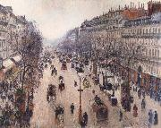 Boulevard Montmartre,morning cloudy weather Camille Pissarro