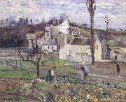 Cabbage patch near the village Camille Pissarro