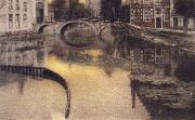 Memory of Bruges,The Entrance of the Beguinage Fernand Khnopff
