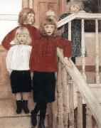 Portrait of the Children of Louis Neve Fernand Khnopff