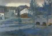 In Fosset The Entrance to the village Fernand Khnopff