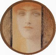 Mask With a black curtain Fernand Khnopff