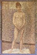 A standing position of the Obverse Georges Seurat