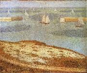 Entrance of Port en bessin Georges Seurat