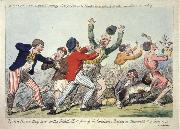 Lord Howe they run or The British Tars giving the Carmignols a Dressing on the Memorable 1st of June 1794 Isaac Cruikshank