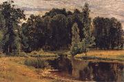 The Pond in the old Flower gardens Ivan Shishkin