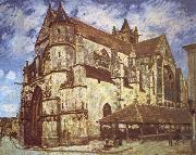 The church at Moret,Evening Jean-Antoine Watteau