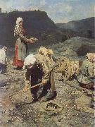 Poor People Collecting Coal in an Abandoned Pit Nikolai Kasatkin