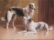 Hounds in an Interior Carl Reichert
