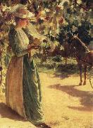 Woman with a horse Charles Courtney Curran