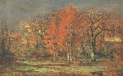 Edge of the Woods,Cherry Tress in Autumn Charles leroux