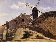 The Moulin of the Calette in Montmartre Corot Camille