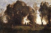 The dance of the nymphs Corot Camille