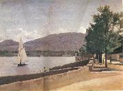The quai give paquis in geneva Corot Camille